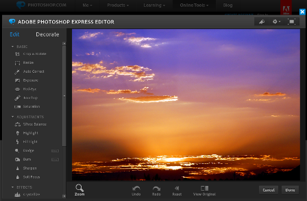 Photoshop Express Online Photo Editor