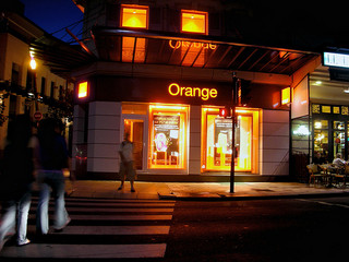 European mobile operator, Orange, chose the obvious color for their branding
