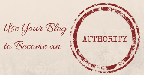 Blogging to become an authority
