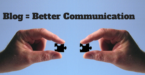 Blogging improves two way communication