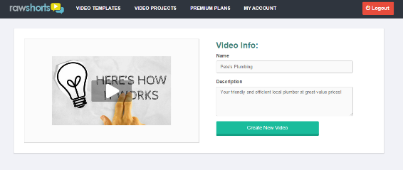 Create a new video project