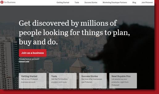 Pinterest Business page setup page