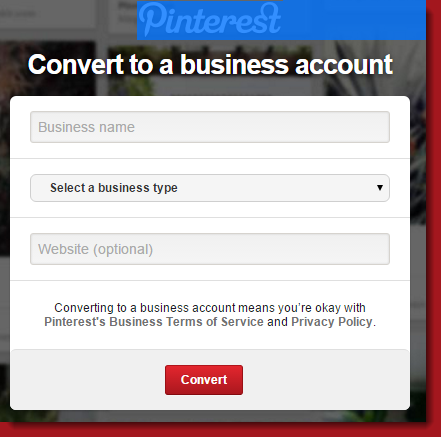 Convert personal account