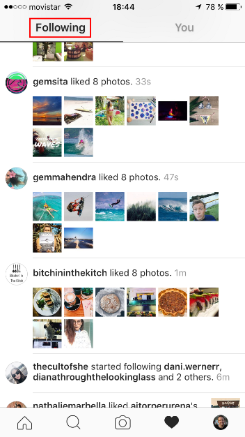 See activity of followers on Instagram