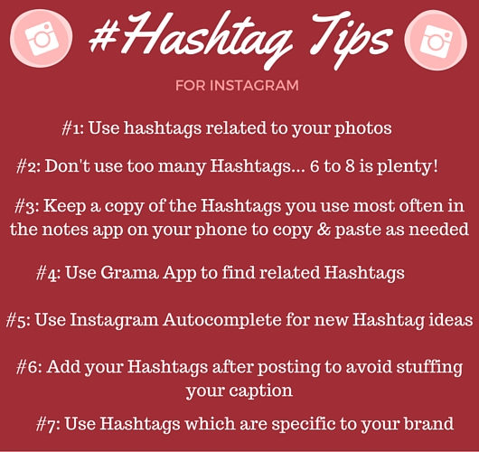 Tips for using hashtags on Instagram